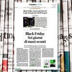 Black Friday, maxi sconti fino al 3 e apre il mega store da 160 negozi