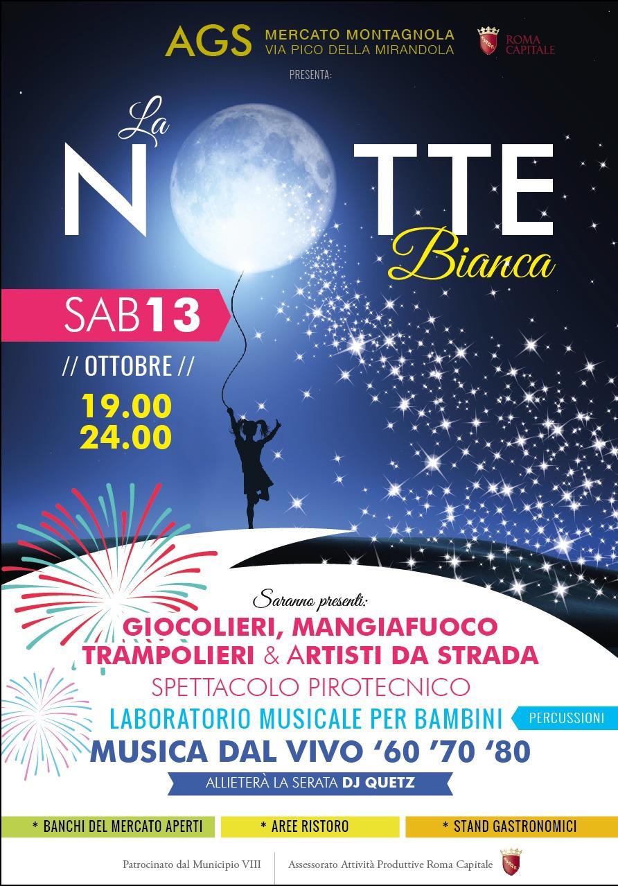 13 OTTOBRE, NOTTE BIANCA AL MERCATO MONTAGNOLA