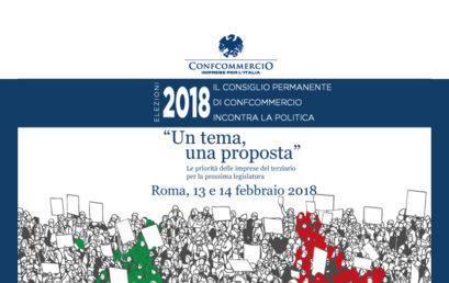 ELEZIONI 2018, CONFCOMMERCIO INCONTRA LA POLITICA