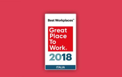 BEST WORKPLACES ITALIA 2018, ECCO LE AZIENDE DOVE SI LAVORA MEGLIO