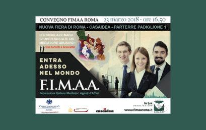 A CASAIDEA IL CONVEGNO FIMAA ROMA SULLA MEDIAZIONE ABUSIVA