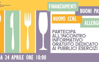PUBBLICI ESERCIZI, TUTTE LE NOVITA' ALL'INCONTRO FIPE ROMA DEL 24 APRILE