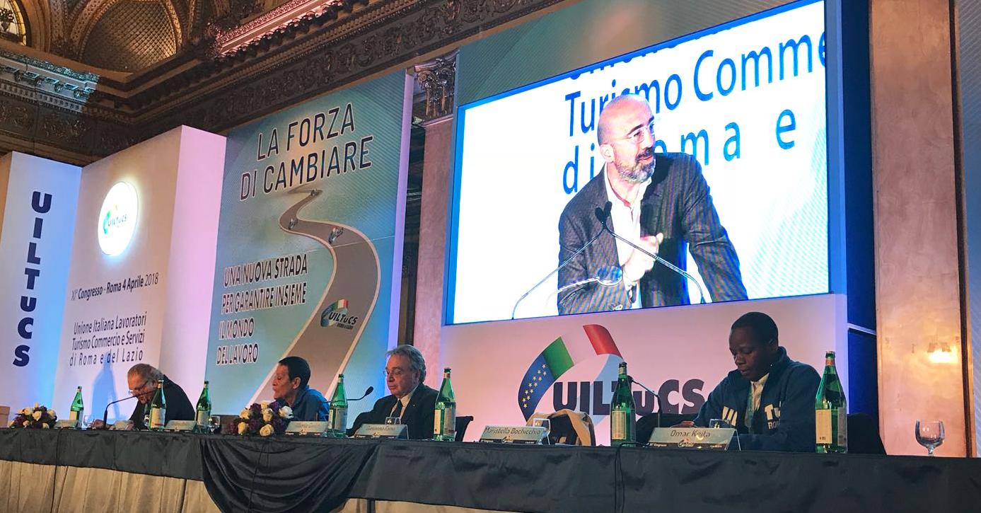 CONFCOMMERCIO ROMA INTERVIENE ALL'XI CONGRESSO UILTUCS ROMA E LAZIO