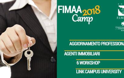FIMAA CAMP 2018, AL VIA LA FORMAZIONE PER IL SETTORE IMMOBILIARE