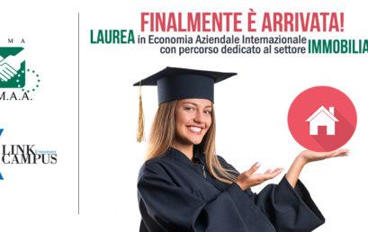 FIMAA ROMA, ARRIVA IL PERCORSO DI LAUREA DEDICATO AL SETTORE IMMOBILIARE