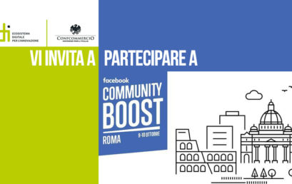 9-10 OTTOBRE, FACEBOOK COMMUNITY BOOST: A ROMA WORKSHOP GRATUITI PER LE PMI