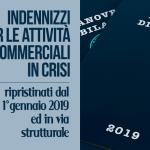 Ripristinati gli indennizzi per le attività commerciali in crisi