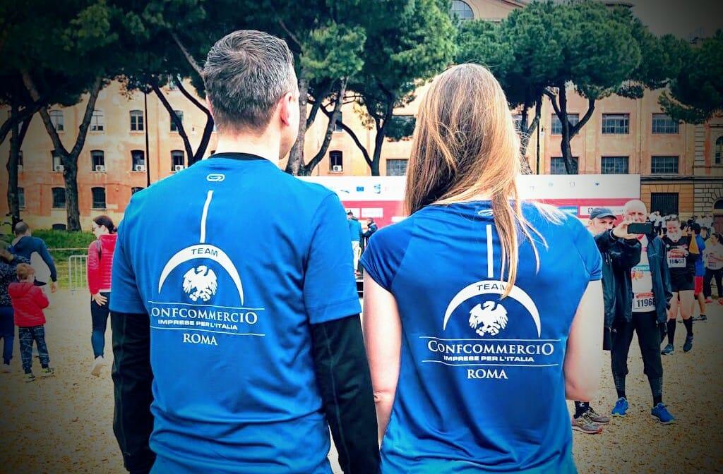 Il Team di Confcommercio Roma alla XXV Acea Maratona Internazionale di Roma