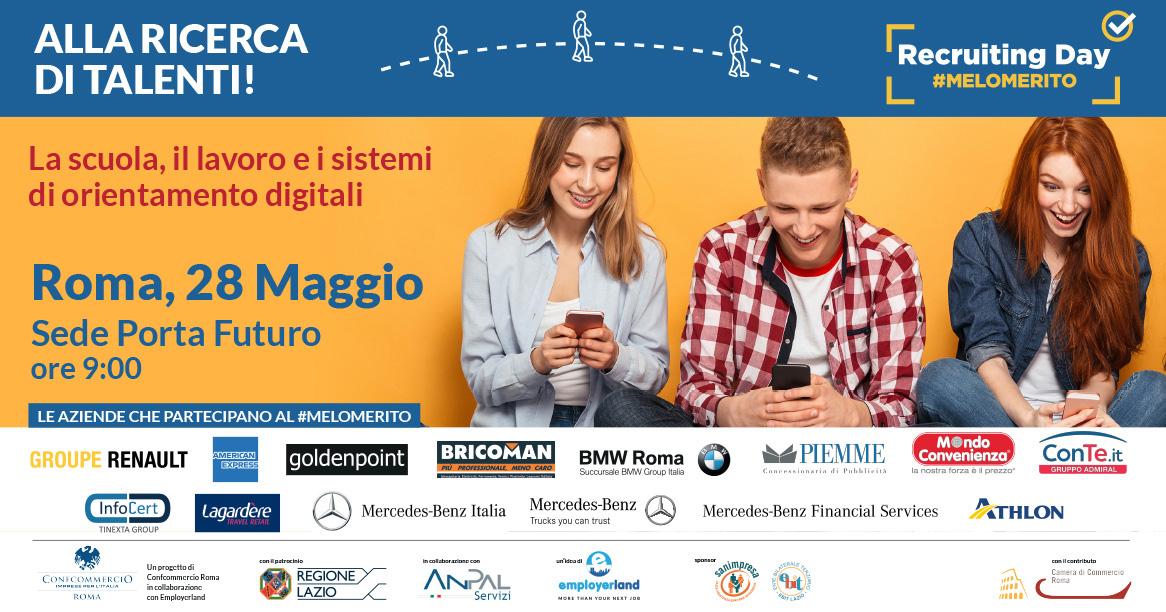 28 MAGGIO | ROMA | Recruiting Day #MELOMERITO