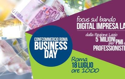 18 LUGLIO | BUSINESS DAY – BANDO DIGITAL IMPRESA LAZIO