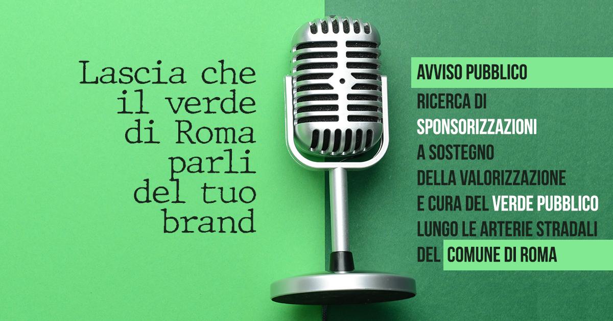 Dal Comune di Roma una nuova opportunità per sponsorizzare il verde pubblico