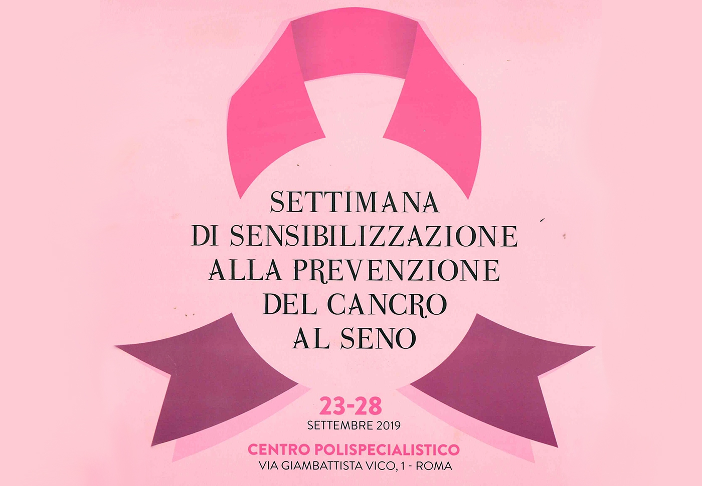 """23-28 settembre """"Settimana della prevenzione del cancro al seno"""""""