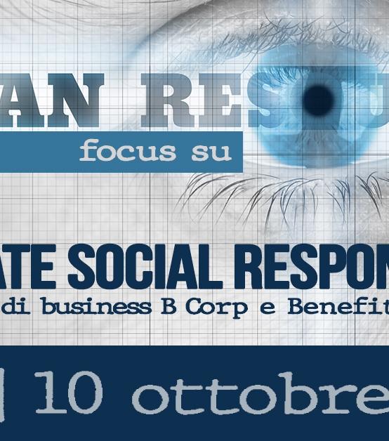 10 OTTOBRE | CORPORATE SOCIAL RESPONSIBILITY: Nuovi modelli di business B Corp e Benefit Corporation