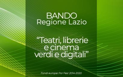 """Il bando regionale """"Teatri, librerie e cinema verdi e digitali"""" è ancora aperto!"""