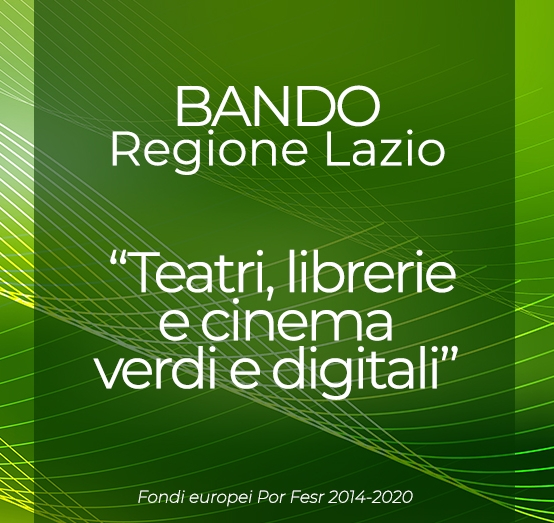 Librerie, teatri e cinema: 3 milioni di euro dalla Regione Lazio per progetti green e digitali