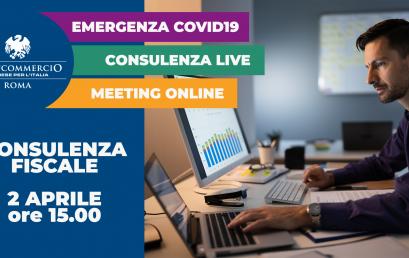 Il 2 aprile partecipa al nostro meeting online sulle disposizioni fiscali del decreto Cura Italia!