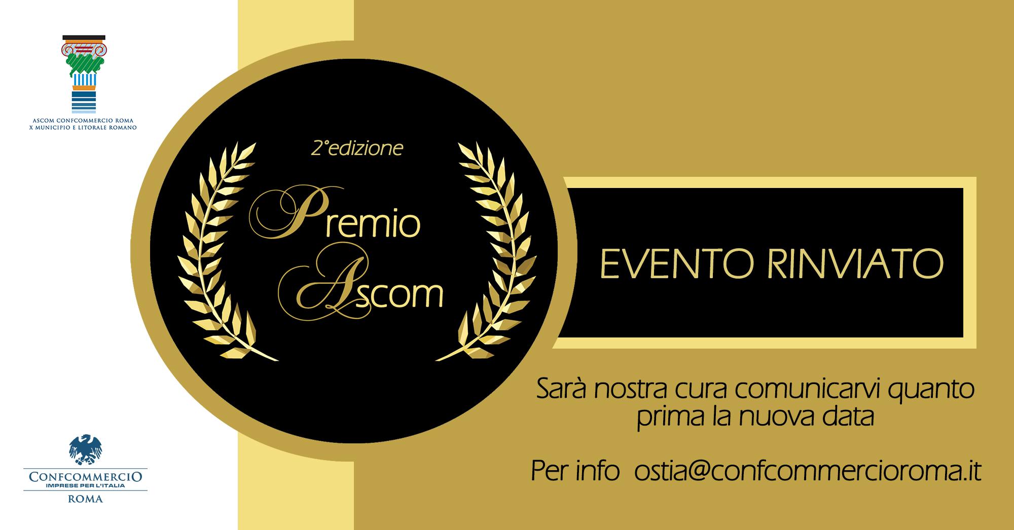 Ostia: rinviato il Premio Ascom 2020