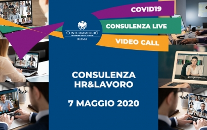 7 MAGGIO consulenza live sulle novità legate al mondo LAVORO&HR per fronteggiare l'emergenza COVID19