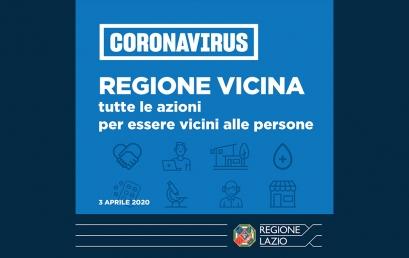 CORONAVIRUS | LAZIO, ZINGARETTI: ECCO 'REGIONE VICINA', 230 MLN RISORSE
