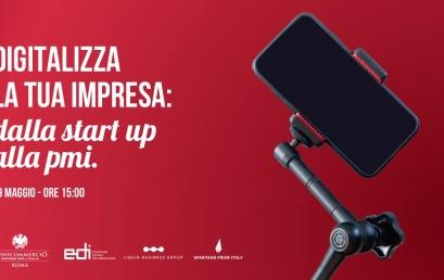 """19 MAGGIO – WEBINAR """"La digitalizzazione delle imprese: dalla startup alla PMI"""""""