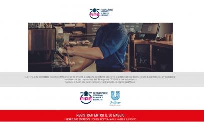 DELIVERY   UNILEVER e FIPE in supporto a bar e ristoranti: registrati entro il 30 maggio!