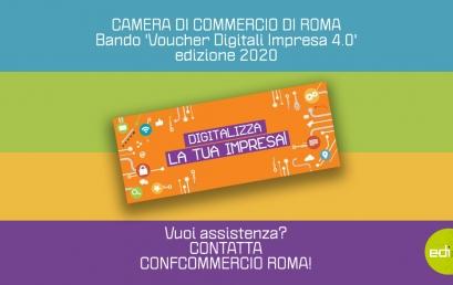 Fino a 10.000€ di contributo a fondo perduto per innovare la tua impresa | Bando 'Voucher Digitali Impresa 4.0' CCIAA Roma – ed.2020