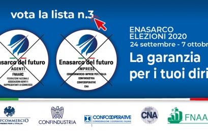 ELEZIONI ENASARCO dal 24 settembre al 7 ottobre 2020 | Confcommercio e FNAARC sostengono ENASARCO DEL FUTURO