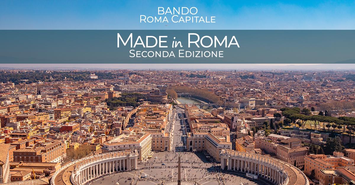 Bando Made in Roma: nuove risorse per imprese e startup della periferia romana