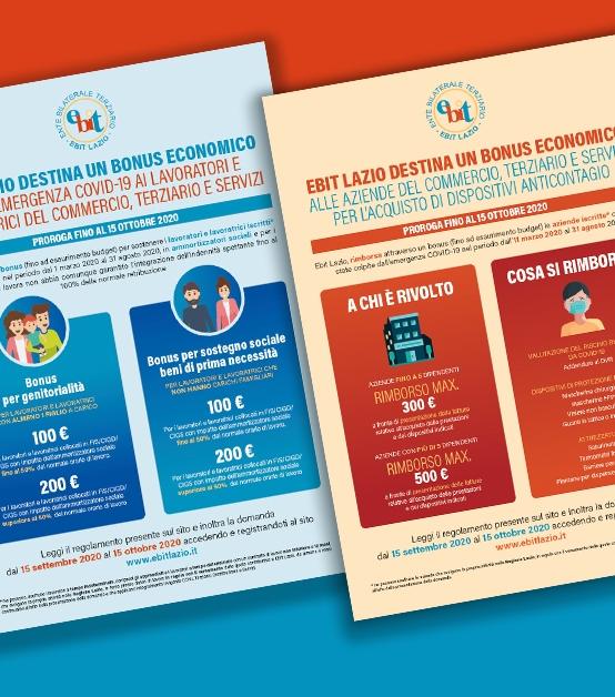BONUS EMERGENZA COVID | EBIT LAZIO proroga al 15 ottobre bonus economico per i lavoratori e bonus per l'acquisto di DPI da parte delle aziende