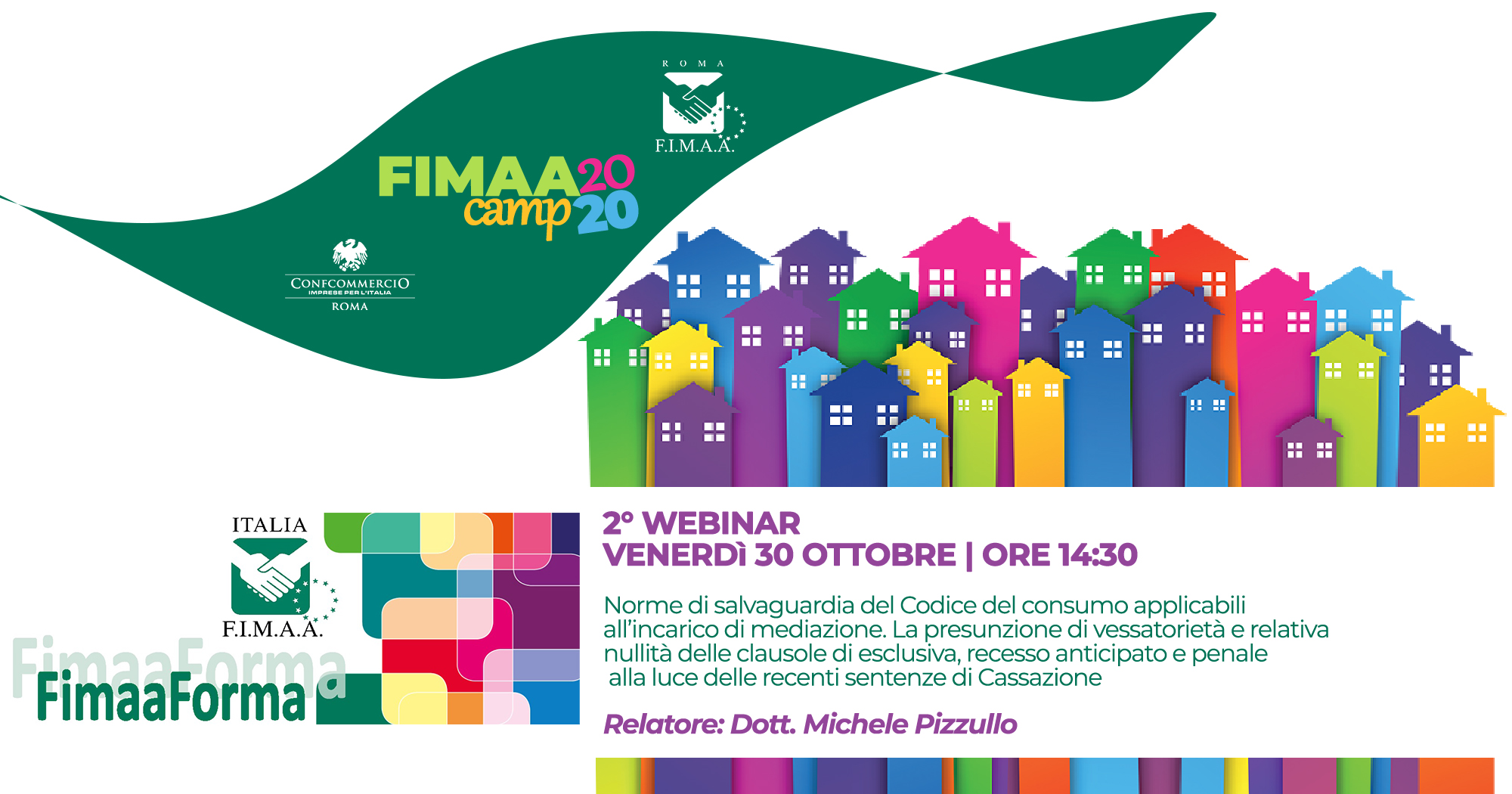 30 OTTOBRE   2°Webinar FIMAA Camp FIMAA FORMA