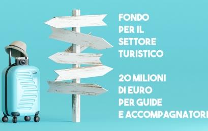 FONDO SETTORE TURISTICO: 20 milioni per ristoro di guide e accompagnatori