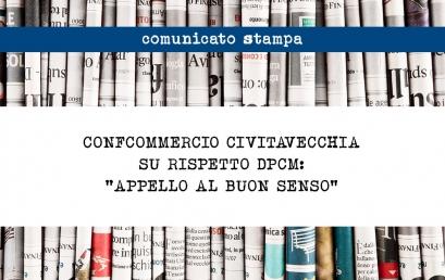 """CONFCOMMERCIO CIVITAVECCHIA: """"Rivolgiamo un appello al buon senso di commercianti e imprenditori sul rispetto del DPCM"""""""