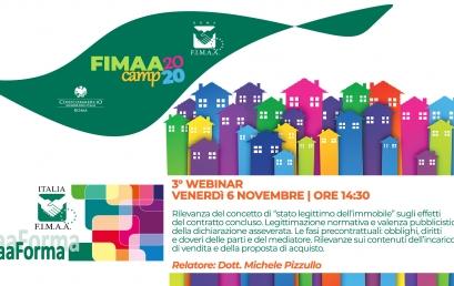 6 NOVEMBRE | 3°Webinar FIMAA Camp FIMAA FORMA