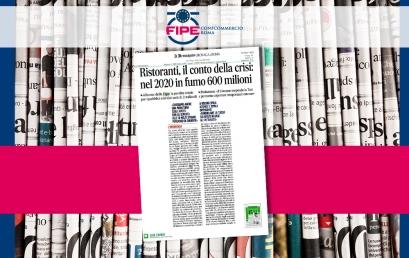 Ristoranti, il conto della crisi: nel 2020 in fumo 600 milioni