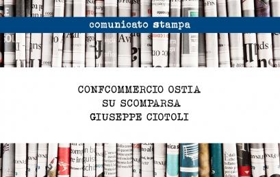 CONFCOMMERCIO OSTIA SU SCOMPARSA GIUSEPPE CIOTOLI