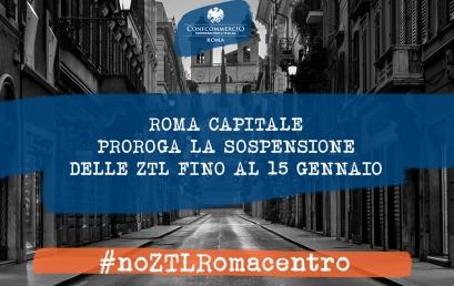ROMA CAPITALE PROROGA SOSPENSIONE ZTL FINO AL 15 GENNAIO