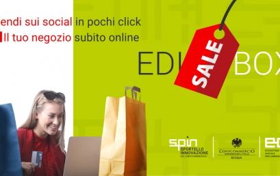 Vendi subito e online in pochi click con EDI Sale Box