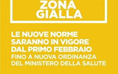 Il Lazio torna in zona gialla da lunedì 1° febbraio 2021