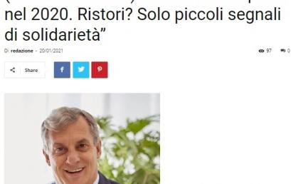 """Roma, crisi commercio, Chevallard: """"Persi 40mila posti nel 2020. Ristori? Solo piccoli segnali di solidarietà""""   GAZZETTA DI ROMA"""