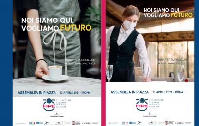 FIPE CONFCOMMERCIO ROMA: VOGLIAMO UNA DATA PER RIAPRIRE | Assemblea straordinaria in piazza martedì 13 aprile