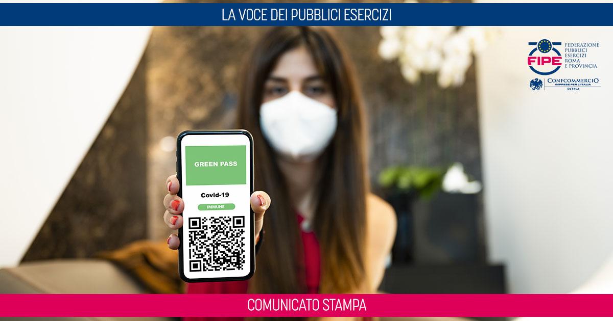 GREEN PASS PUNITIVO PER BAR E RISTORANTI | FIPE CONFCOMMERCIO ROMA