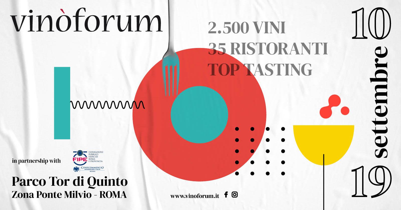 A Roma, dal 10 al 19 settembre arriva Vinòforum, grande evento dedicato all'alta cucina e ai grandi vini